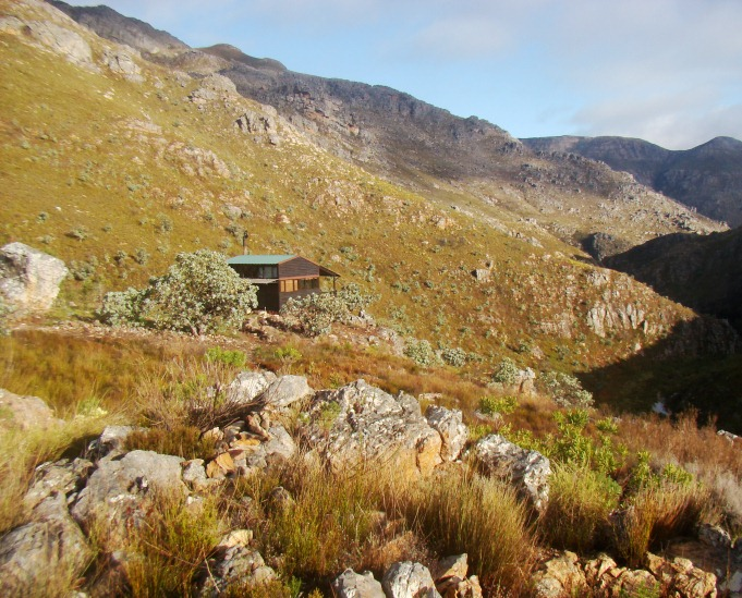 Agtertafelberg hut. Home for two nights.